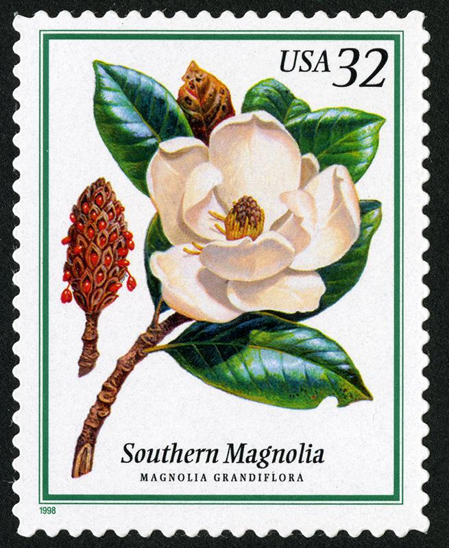 La Primavera, en los sellos de Estados Unidos: Árboles en flor