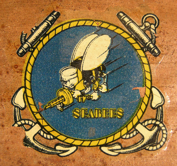 Seabee decal on front
