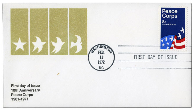 First Day Cover designed by David Battle of a star turning into a dove