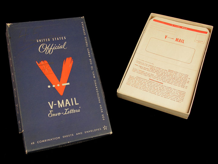 United States Official V-Mail Envo-Letters- V-Mail Stationery printed by Wessel Co.