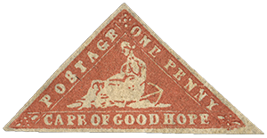 1p Seated Hope single, 1861