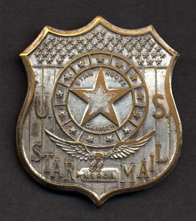 Star Route Carrier badge