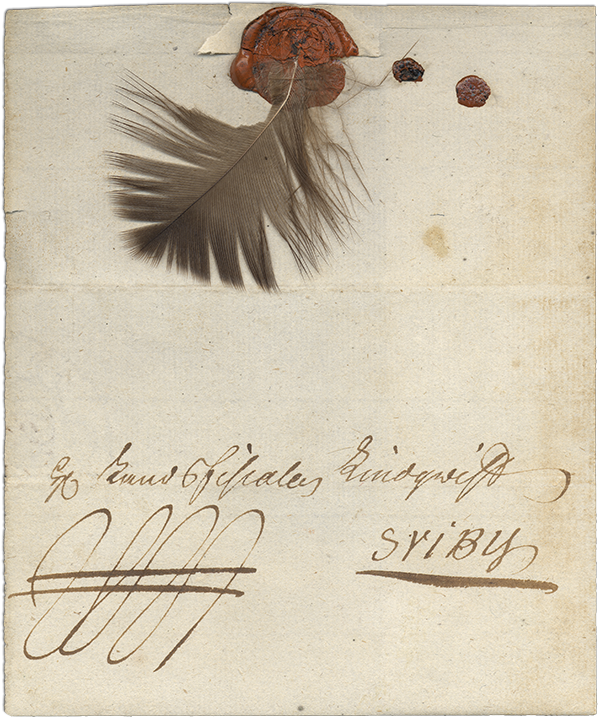 Swedish feather letter, c. 1808