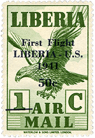 50c surcharge on 1c airmail single