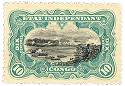 10c River Scene on the Congo single