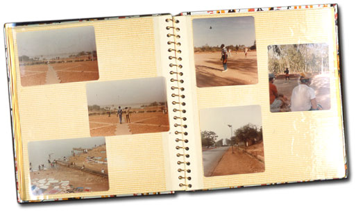 scrapbook with photos after Hurrican Katrina