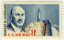 A US airmail stamp