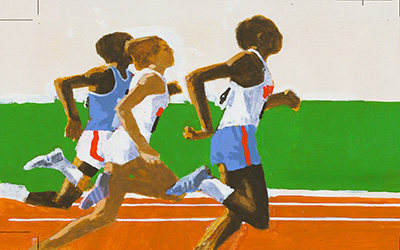 illustration of three runners in a race
