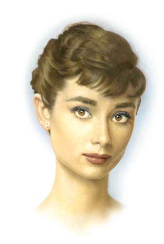 painting of Audrey Hepburn
