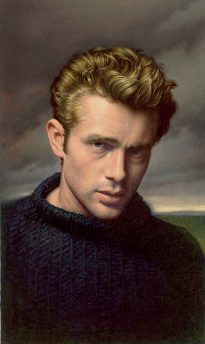 painting of James Dean