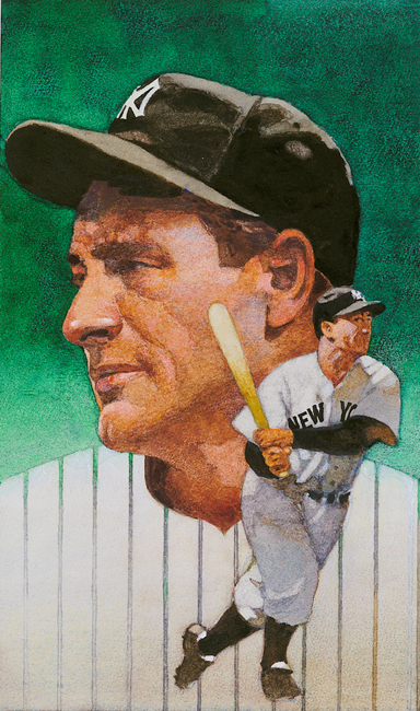 painting of Lou Gehrig