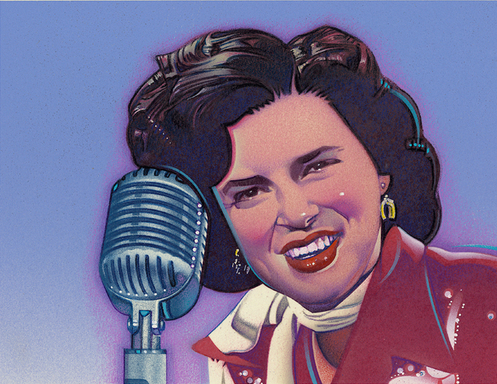 painting of Patsy Cline