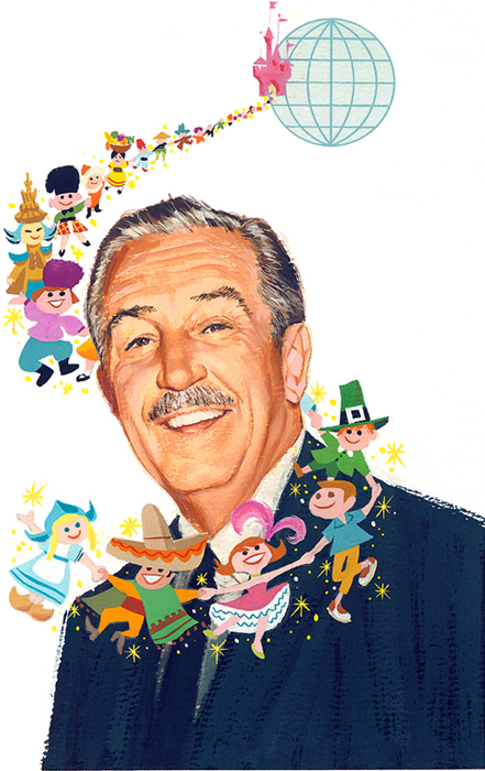 painting of Walt Disney