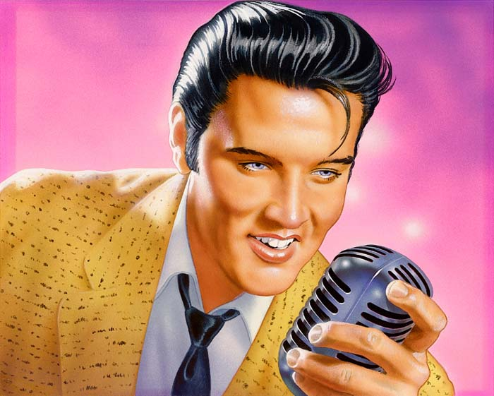 Elvis stamp artwork