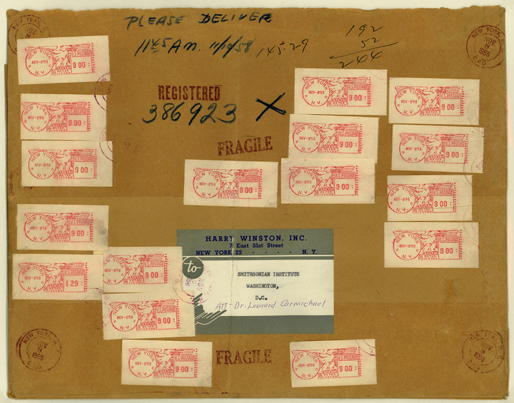 Hope Diamond mailing wrapper