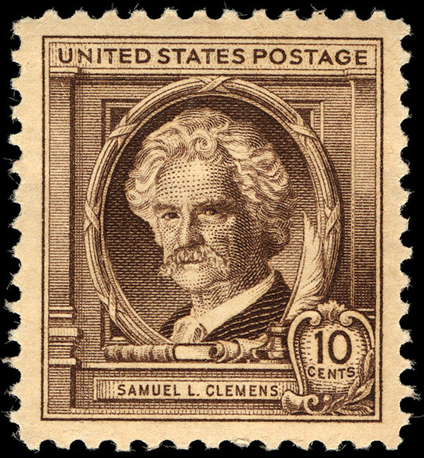 Ten-cent Samuel L. Clemens stamp