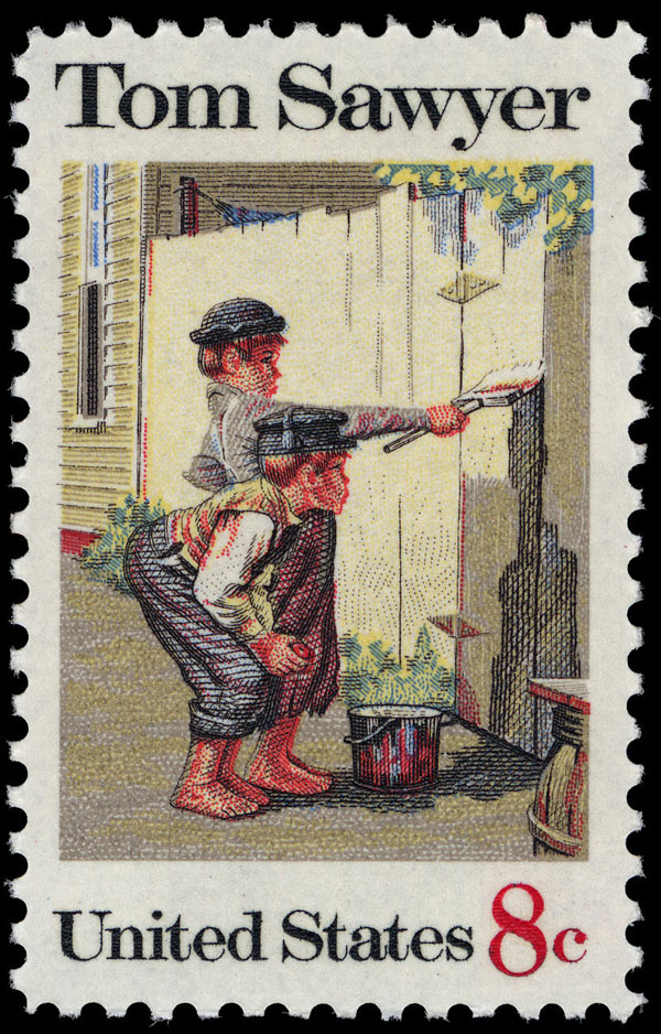Eight-cent Tom Sawyer stamp