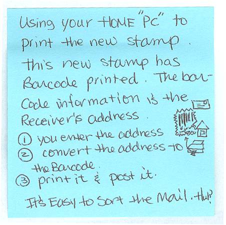 Using your home PC to print stamps