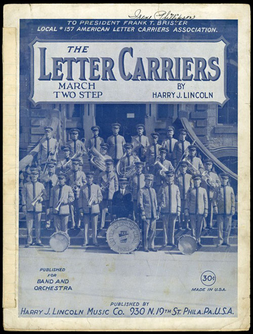 The Letter Carrier's Grand March sheet music cover