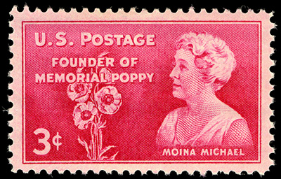Moina Michael, Founder of Memorial Poppy stamp