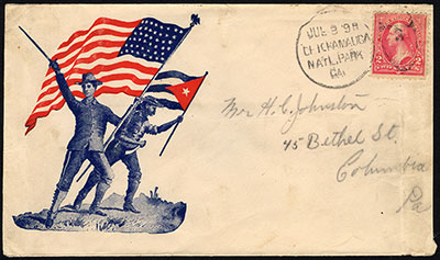 Spanish-American War patriotic cover, 1898