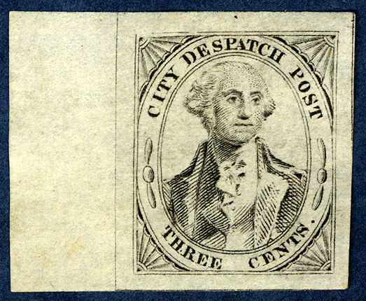 3 cent George Washington City Despatch Post stamp
