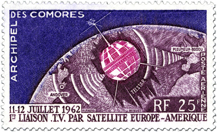 Comoro Islands stamp with Telstar 1