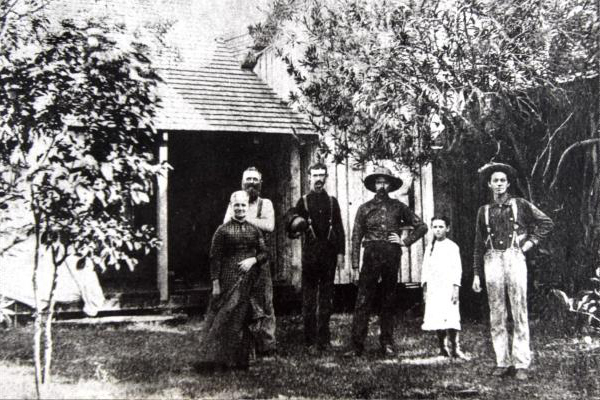 Margretta M. Pierce, Captain Hannibal D. Pierce, Andrew W. Garnett, James 'Ed' Hamilton, Lillie E. Pierce, and Charles W Pierce
