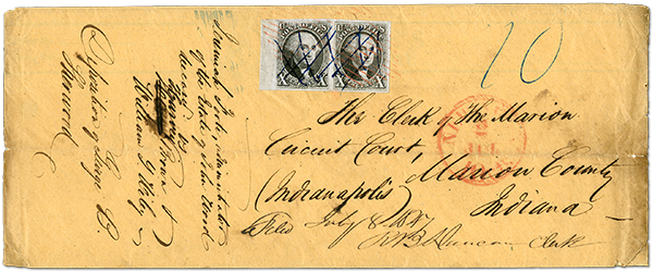 July 2, 1847 Envelope – The Earliest Recorded Usage of a United States Postage Stamp