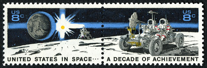 8-cent Space Achievement Decade Issue pair