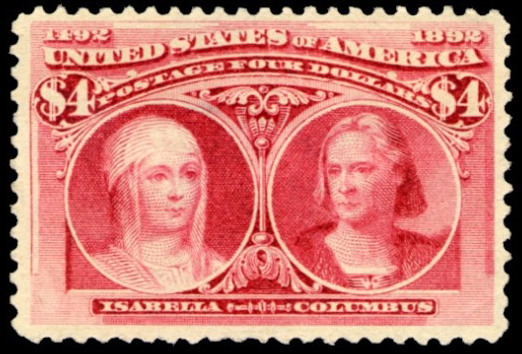 4-dollar Isabella and Columbus stamp