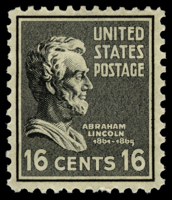 16-cent Abraham Lincoln stamp