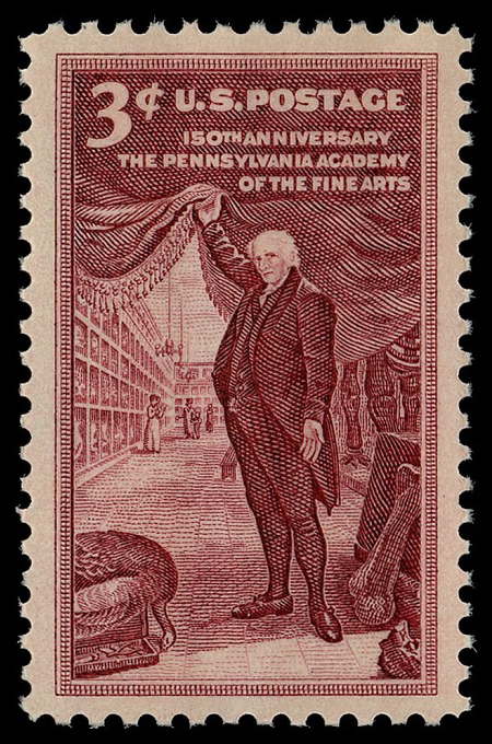 3-cent Pennsylvania Academy of Fine Arts stamp
