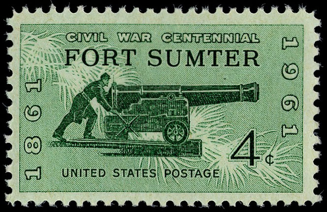 4-cent Fort Sumter stamp