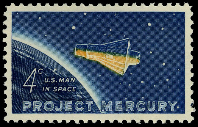 4-cent Project Mercury single