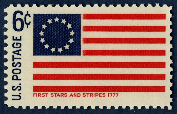6-cent First Stars and Stripes Flag stamp