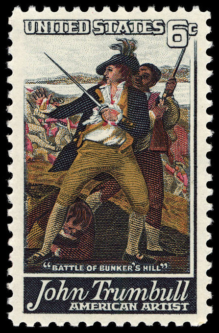 6-cent Trumbull Battle of Bunker's Hill stamp