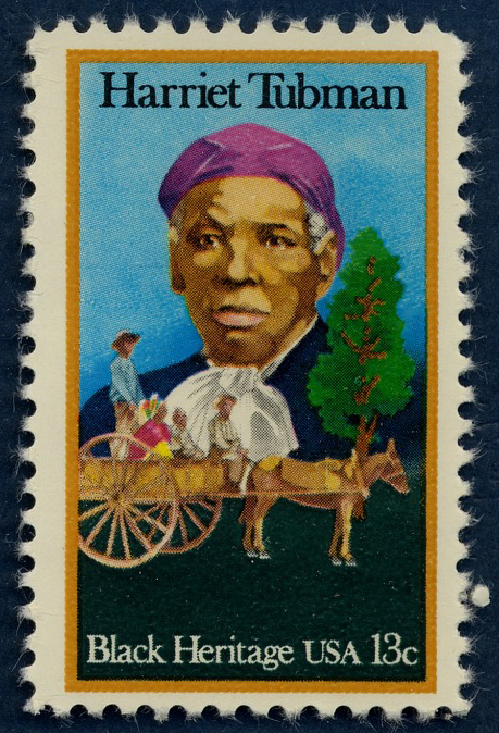 13-cent stamp featuring a painting of Harriet Tubman