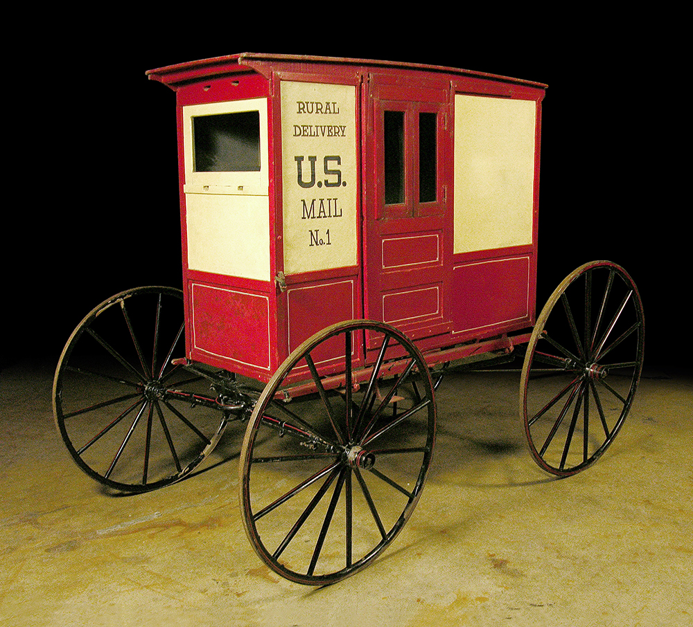 Rural Free Delivery mail wagon