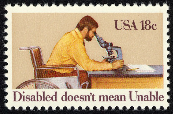 18-cent International Year of the Disabled stamp
