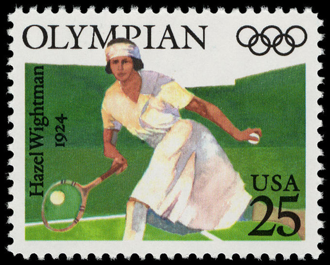 25-cent Hazel Wightman stamp