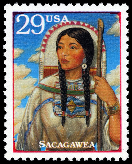 29-cent Sacagawea mini sheet stamp