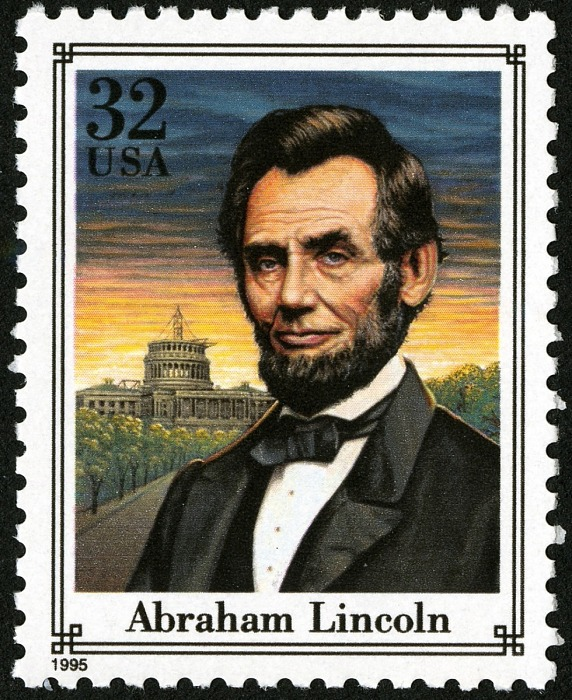 32-cent Abraham Lincoln stamp