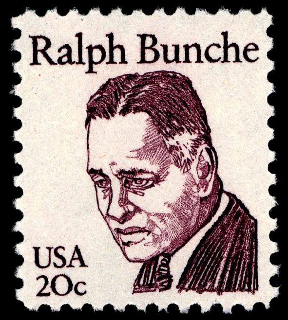 20-cent Ralph Bunche stamp