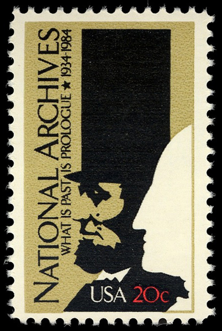 20-cent National Archives stamp