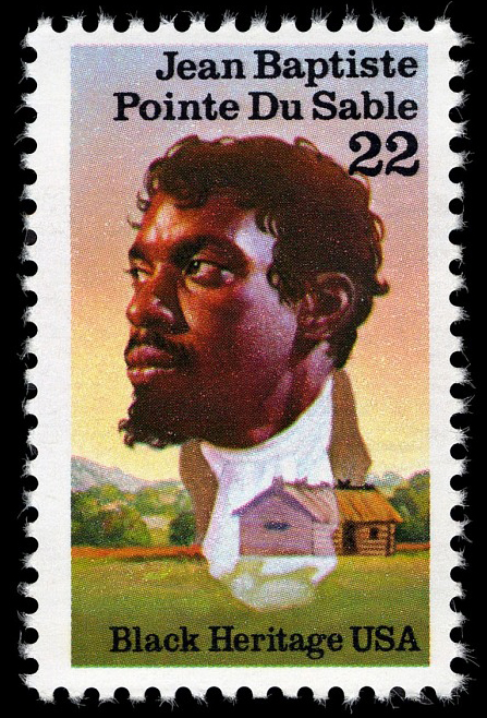 22-cent Jean Baptiste Pointe Du Sable stamp