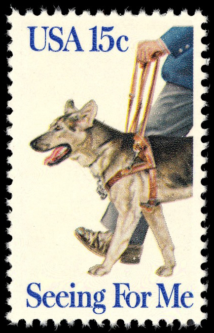 15-cent Seeing For Me - Seeing Eye Dogs stamp