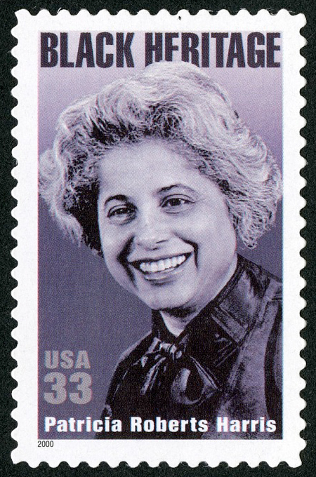 33-cent stamp featuring a photo of Patricia Roberts Harris