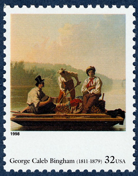 32-cent Boatmen On The Missouri stamp