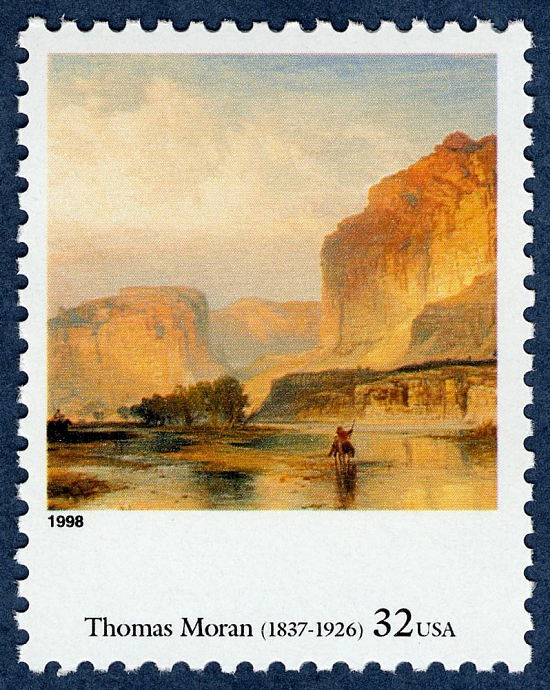 32-cent Cliffs of Green River stamp